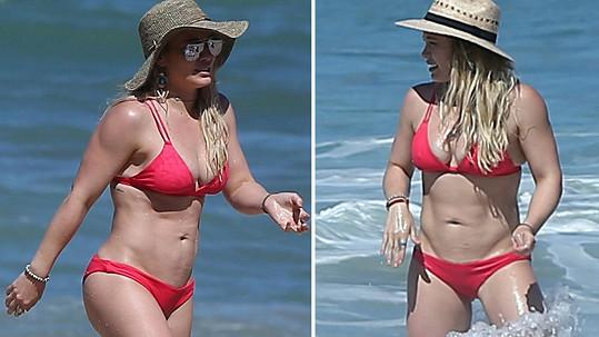 Hilary Duff ukázala výstavní tělíčko.