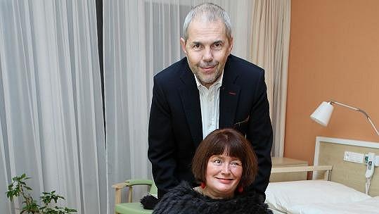 Marek Eben s manželkou Markétou Fišerovou.