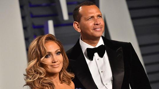 Jennifer Lopez se snoubencem Alexem Rodriguezem