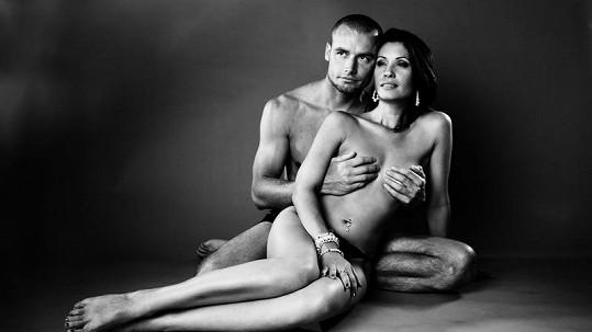 Adéla Taş s přítelem Petrem Markem.