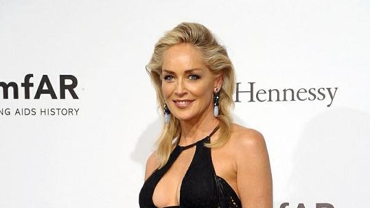 Sharon Stone v Miláně.