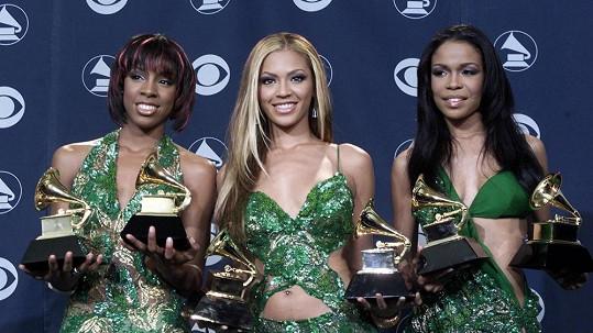 Destiny's Child: Zleva: Kelly Rowland, Beyoncé a Michelle Williams.