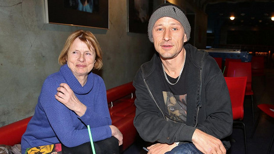 Matěj Homola s maminkou
