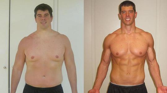 Takhle Randy proměnil své tělo.
