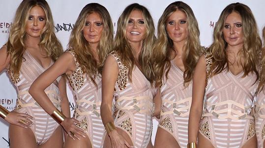 Modelčiny klony byly podobné spíš sobě navzájem než samotné Klum.