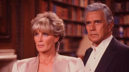 Linda Evans a John Forsythe v seriálu Dynastie