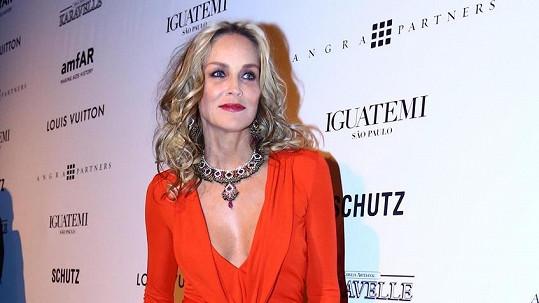 Sharon Stone zavítala do Brazílie.