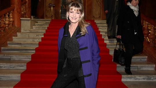Chantal Poullain na premiéře nového filmu Masaryk