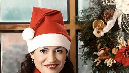 Cvičitelka Hana Kynychová jako Santa Claus
