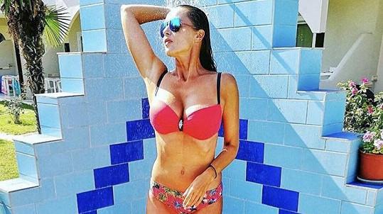Iva Kubelková je na dovolené v Řecku.