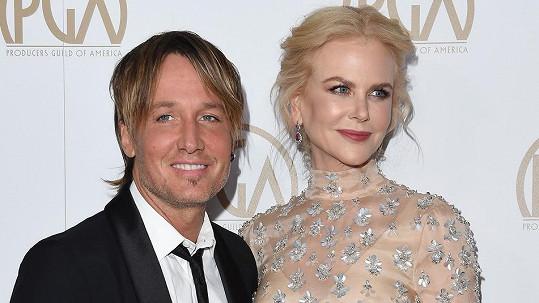Nicole Kidman s manželem Keithem Urbanem