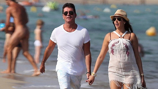 Simon Cowell a Lauren Silverman na jihu Francie