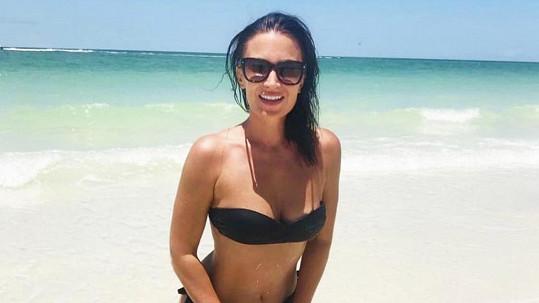 Gábina byla na pláži na Floridě účastnicí nepříjemné podívané.
