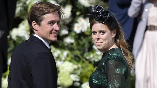 Princezna Beatrice se provdala za Edoarda Mozziho.