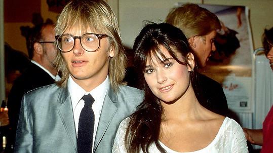 Demi Moore s prvním manželem Freddym