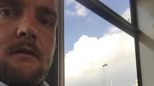 Libor Bouček v tramvaji