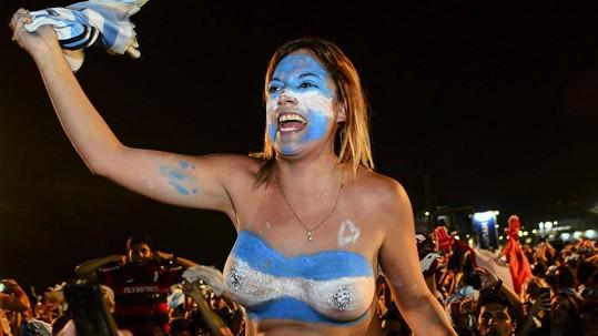 Fanynky Argentiny jsou hodně temperamentní.