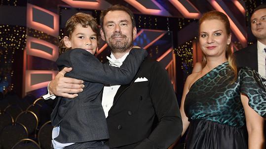 Emanuele Ridi s rodinou