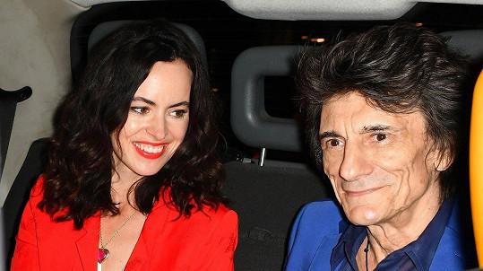 Ronnie Wood s manželkou Sally.