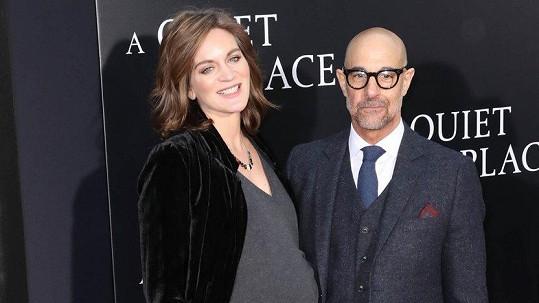 Stanley Tucci a jeho žena Felicity Blunt mají druhé dítě.