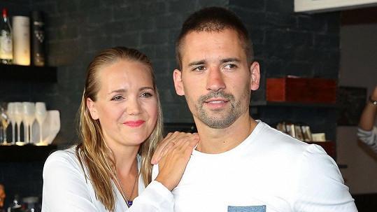 Lucie Vondráčková a Tomáš Plekanec v roce 2017