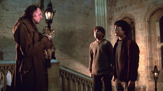 Na natáčení Harryho Pottera a Tajemné komnaty se to zvířaty hemžilo.