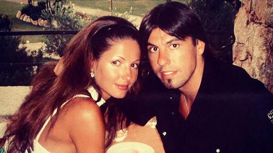 Milan a Tereza Barošovi, když spolu ještě randili.