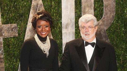 George Lucas se svou láskou a manželkou Mellody Hobson.