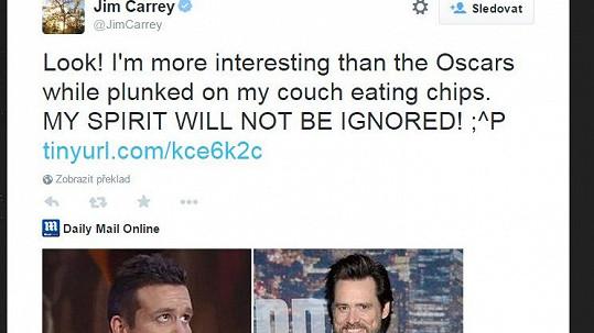 Jim Carrey reagoval na ostudu na Lvech s jemu nepodobným dvojníkem.
