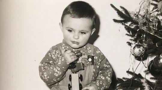 Moderátor Primy, když byl ještě malý kluk.