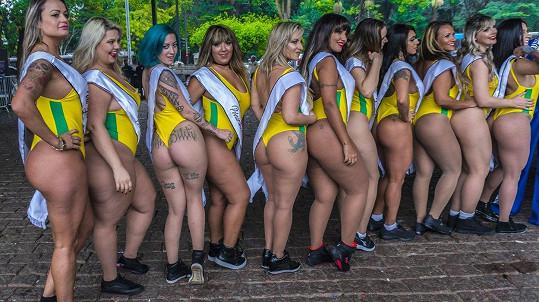 Tohle jsou Brazilky s nejkrásnějšími zadečky...