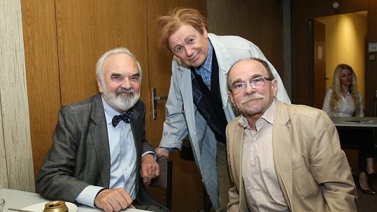 Jaroslav Uhlíř (vpravo) prodělal infarkt.
