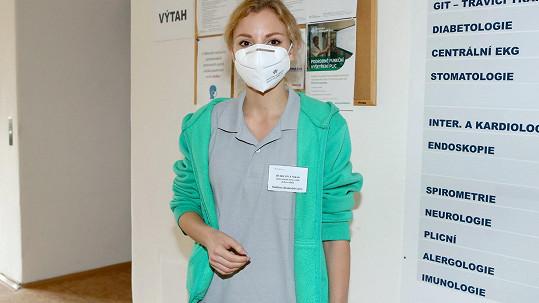 Nikola Ďuricová už na podzim začala pracovat jako dobrovolnice.