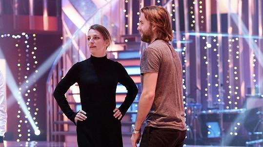 Anna Polívková a Michal Kurtiš na tréninku StarDance...
