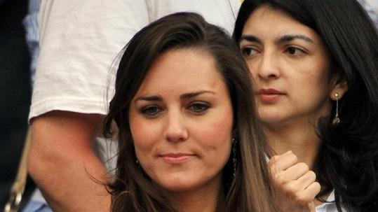 Kate Middleton v roce 2008 na Wimbledonu.