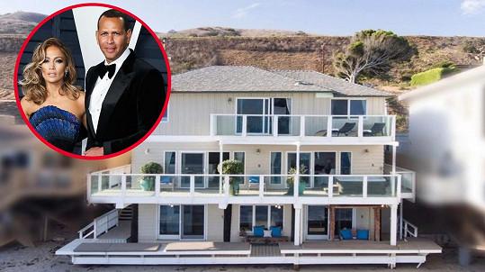 Jennifer Lopez a Alex Rodriguez prodávají sídlo v Malibu.