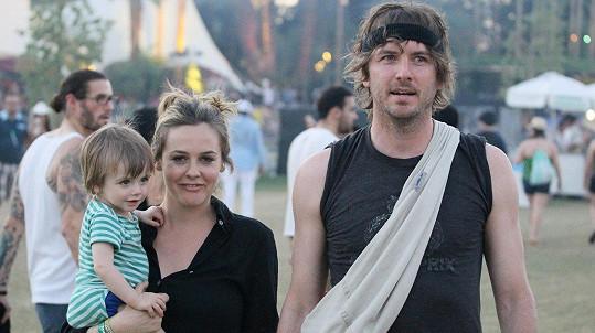 Alicia Silverstone (41) a Christopher Jarecki (41) se synkem Bearem Bluem.