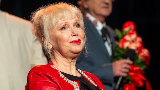 Marika Gombitová se při předání ceny SOZA neubránila pláči.