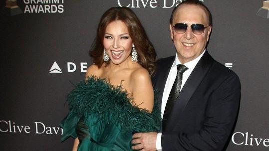 Thalía s manželem Tommym Mottolou