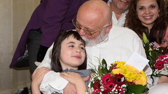 Arnošt Goldflam s dcerou Mimi