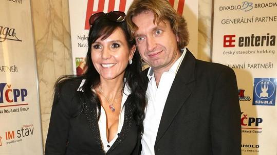 Martina Jandová s přítelem Danem Dobiášem.