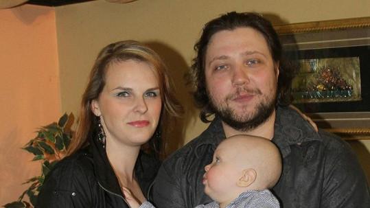 Felix Slováček mladší s manželkou a synem Felixem
