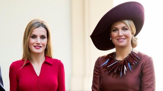 Letizia a Maxima na společném setkání v Nizozemsku