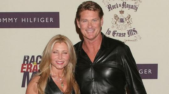 David Hasselhoff s exmanželkou