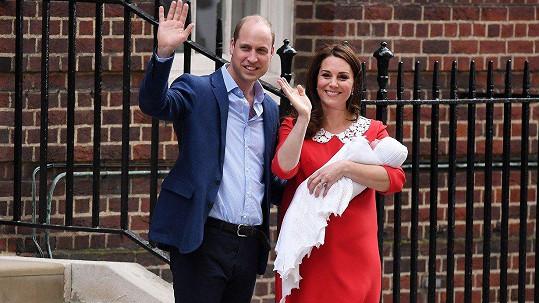Kensingtonský palác oznámil jméno třetího potomka Kate a Williama.