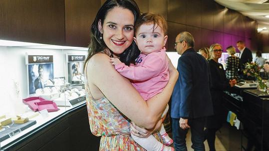 Libuška Rohlíčková s dcerkou