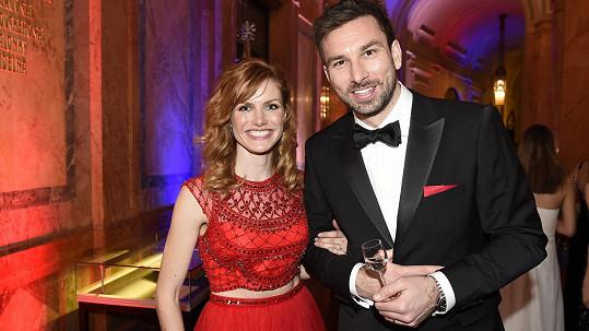 Gabriela Koukalová s manželem Petrem