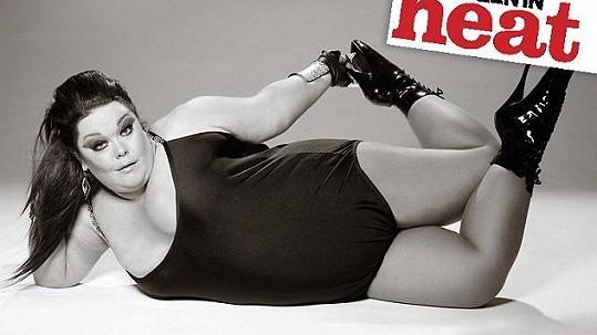 Lisa Riley pro magazín Heat.