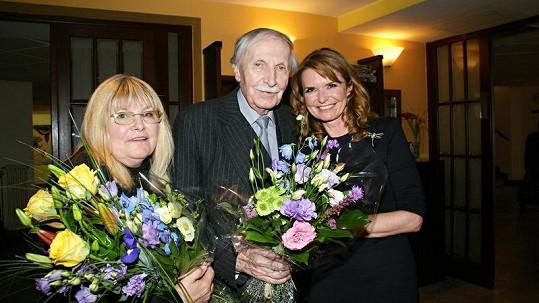 Ladislav Chudík s manželkou Alenou a Hankou Heřmánkovou.