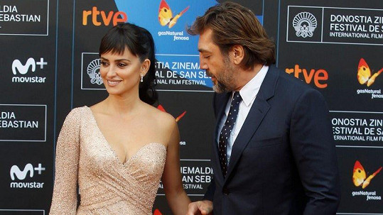 Penélope Cruz a Javier Bardem na festivalu San Sebastian